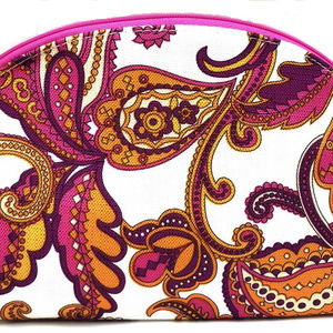 Clinique Pink Paisley Large Cosmetic Travel Bag